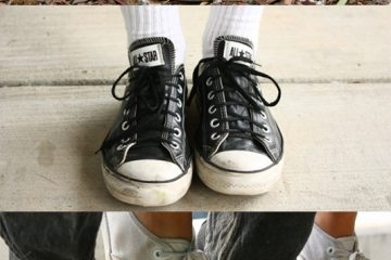 There's tough competition among high school students for the battle between Converse and Vans. Credit: (top) Ellie Morrison & (middle & bottom) Maddy Schmitt