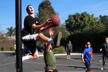 basket ball student vs teacers