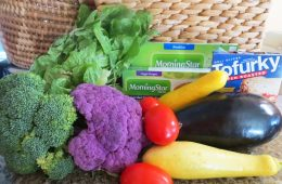 "Vegetables like broccoli and squash and brands like Morningstar that produce ""fake meat"" are healthy ways to implement a vegetarian diet. Credit: Kienna Kulzer/The Foothill Dragon Press"