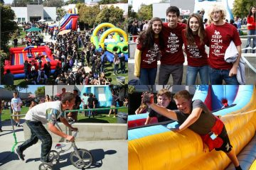 Pictures of past Renaissance rallies. Credit: Natalie Smith (top left), Bethany Fankhauser (top right), Josh Ren (bottom left), Johnathan Carriger (bottom right)/The Foothill Dragon Press
