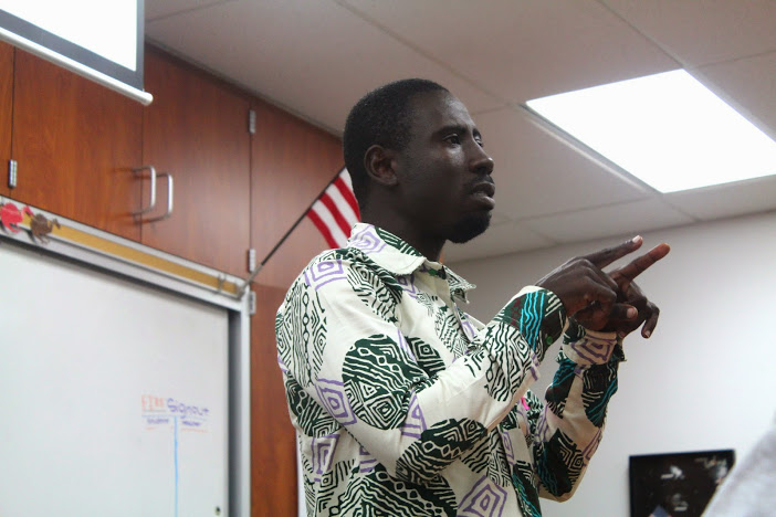 James Kofi Annan spoke to students Tuesday, sharing stories about escaping child slavery and the organization he founded. Credit: Carrie Coonan/The Foothill Dragon Press