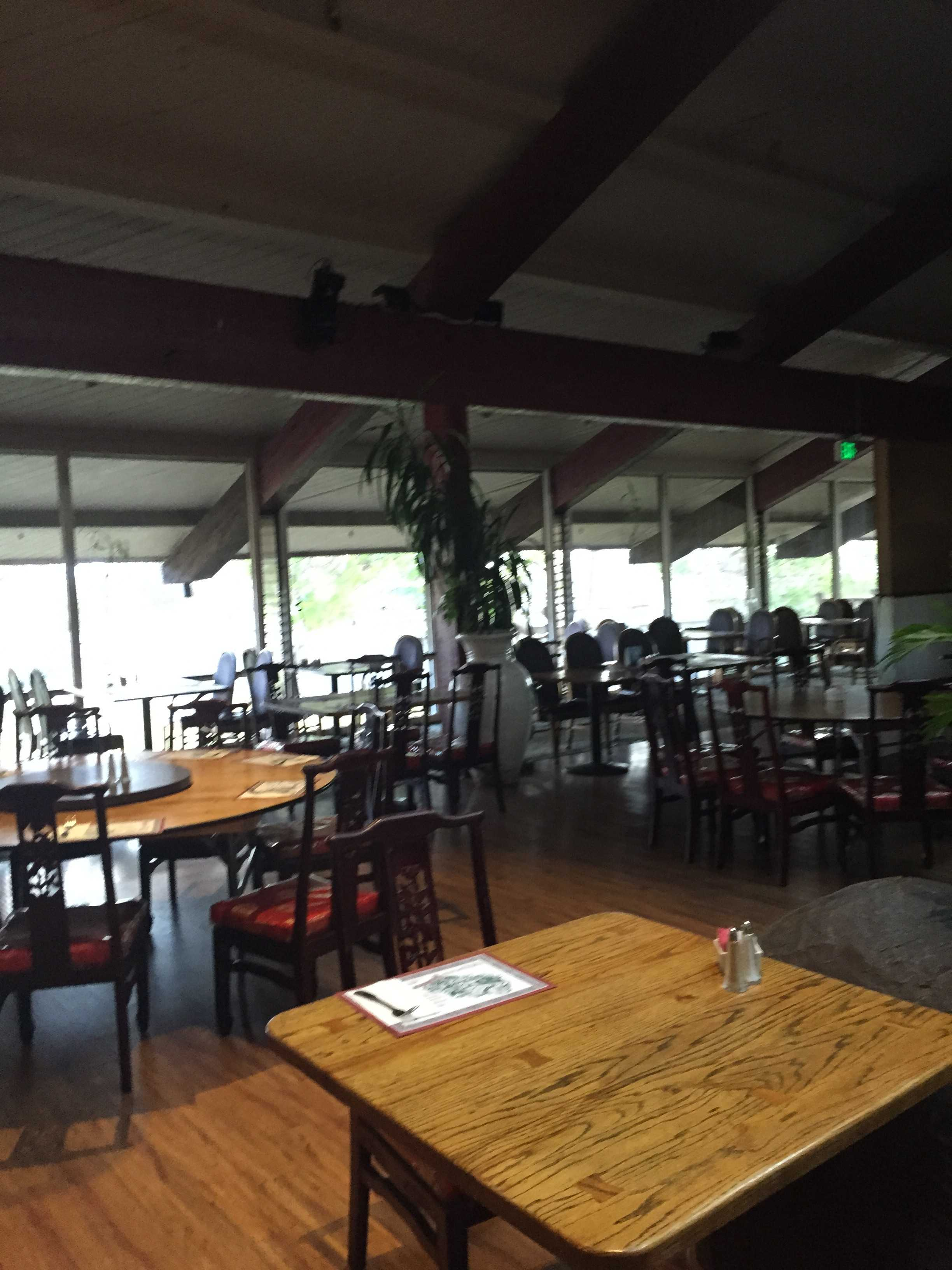 The seating at Golden China. The restaurant has a quirky interior. Credit: Ema Dorsey/The Foothill Dragon Press