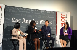 (From left to right) Cecily Tyson, Viola Davis, creator of the show Peter Nowalk.