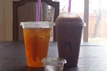 """A meal replacement shake and a rehydrating iced tea from """"The Good Life."""" Credit: Sunset Flores/The Foothill Dragon Press"""