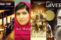 "(From left to right) Rick Riordan's ""The Red Pyramid,"" ""I Am Malala,"" """