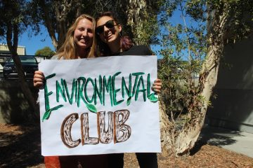 Junior Bella Bobrow and senior Rugile Pekinas are starting an Environmental Club this year on campus. Credit: Carrie Coonan/The Foothill Dragon Press