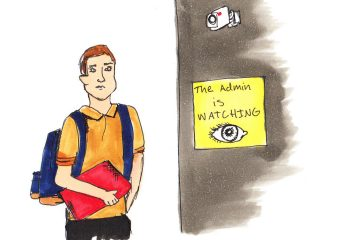 Opinion writer William Flannery believes that surveillance cameras erode trust between students and the administration. Credit: Jessie Snyder/The Foothill Dragon Press