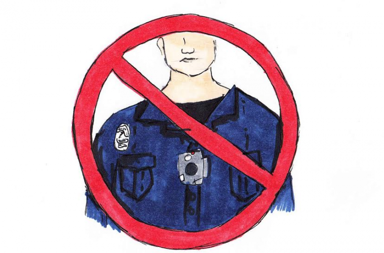 Opinion writer CJ Haberbush believes that police body cameras in school are a sacrifice of student rights. Credit: Jessie Snyder/The Foothill Dragon Press