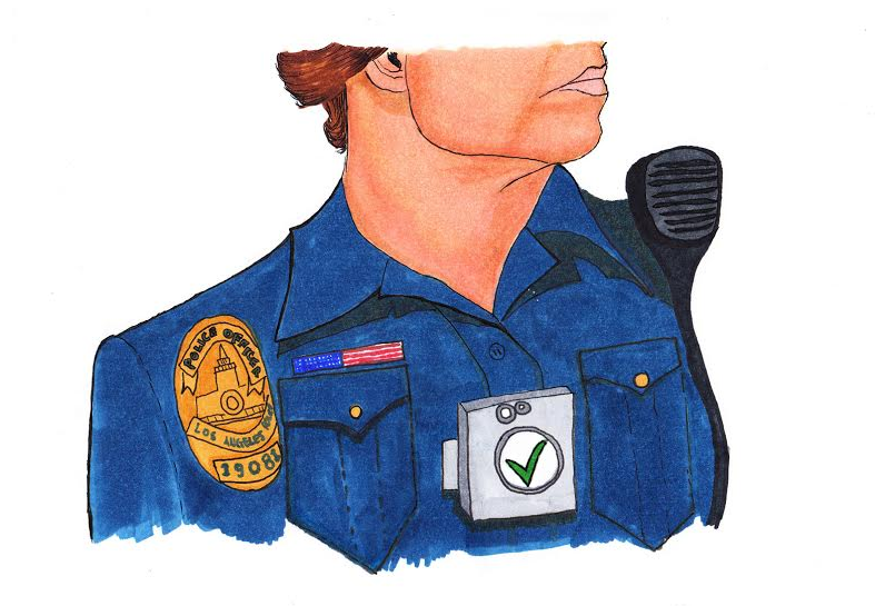 Opinion writer Emma Kolesnik believes that the recent implementation of body cams on police while on school campuses is justified. Credit: Jenny Chang/The Foothill Dragon Press