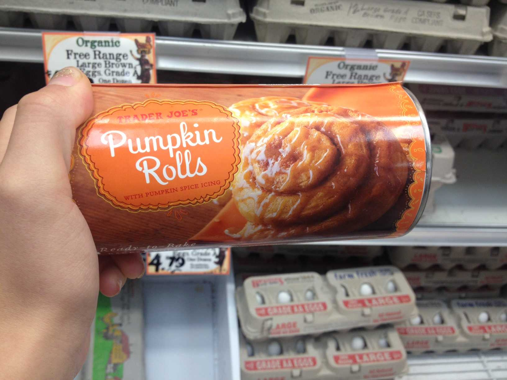 Trader Joe's Pumpkin Rolls. Credit: Julia Fickenscher/The Foothill Dragon Press