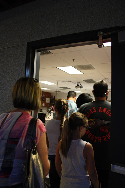 Families visited each of their students' classrooms on Tuesday night. Credit: Gabrialla Cockerell/The Foothill Dragon Press