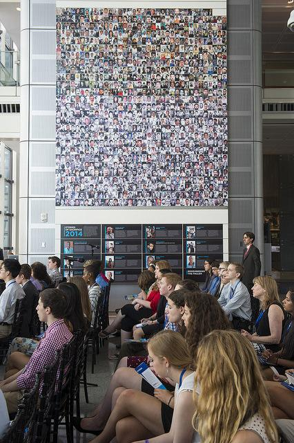 The memorial for fallen journalists. Courtesy of the Newseum Institute.