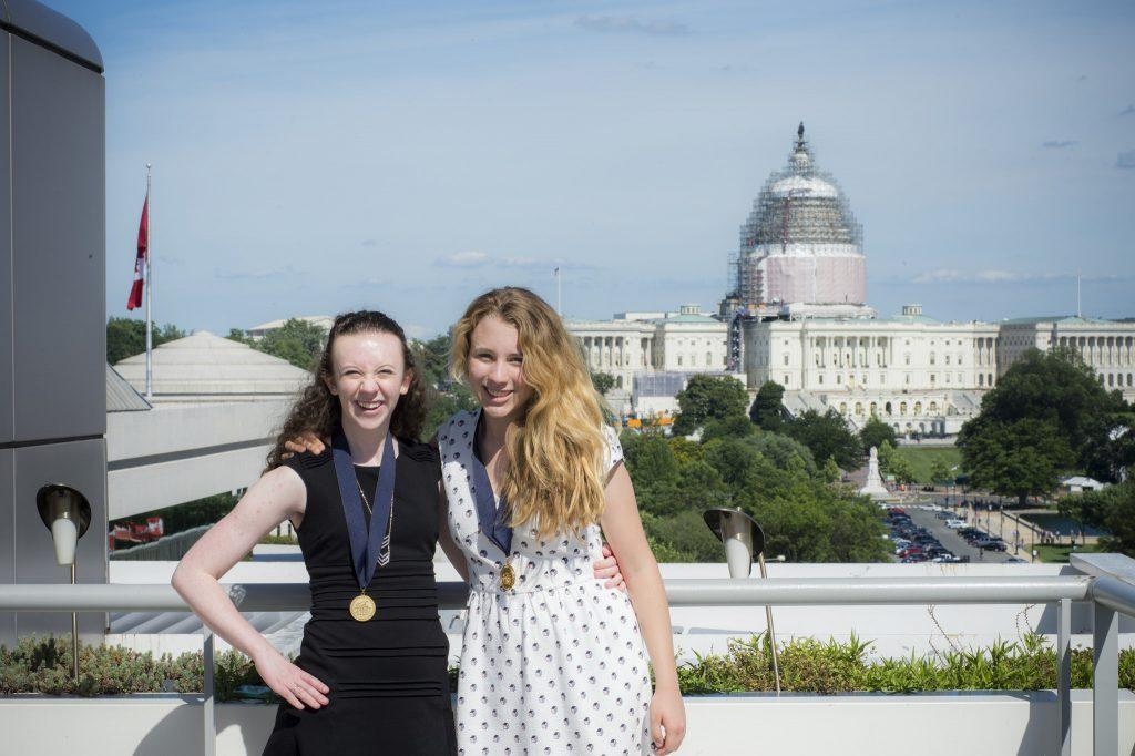 Colorado representative and roommate Olivia Koontz and I on the last day of the conference. Courtesy of the Newseum Institute.