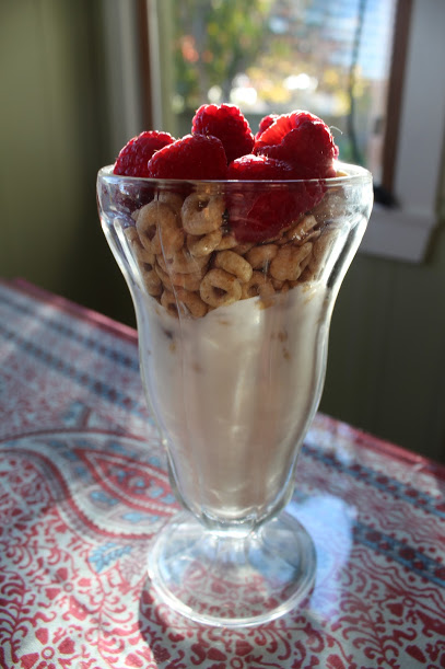 Yogurt and cereal parfaits topped with fruit are an easy and healthy breakfast. Credit: Carrie Coonan/The Foothill Dragon Press