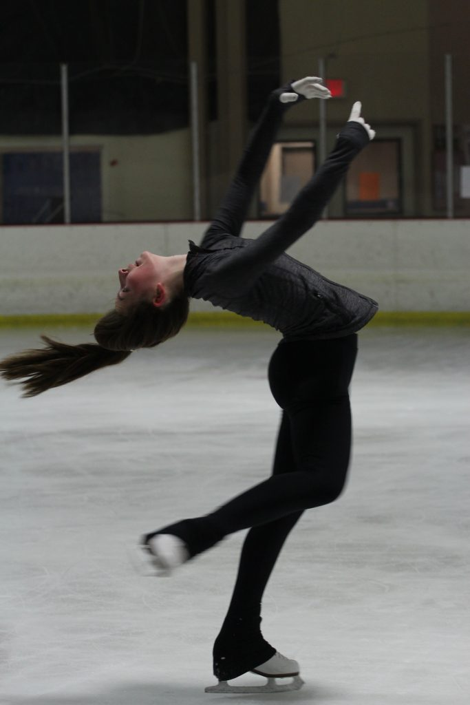 Lane Domke has been skating for the past seven years with her sister. Credit: Chloey Settles/The Foothill Dragon Press
