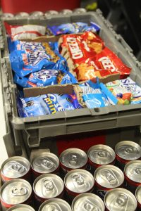 Drinks and snacks were provided to the donors to help raise their glucose levels. Credit: Carrie Coonan/The Foothill Dragon Press