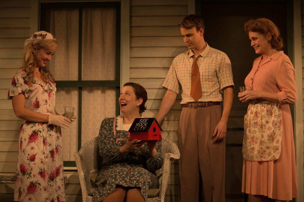 The character Eric Odon presents his mother with a birdhouse that is supposedly from Rock City. Credit: Zachary Adams (Used with permission)