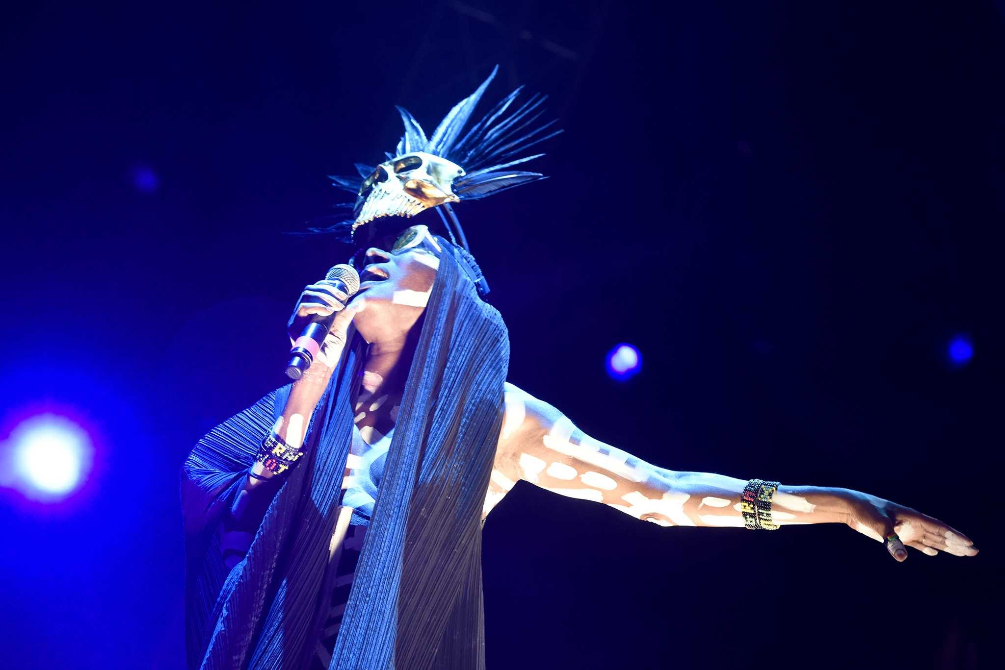 Grace Jones at Main Stage by Everett Fitzpatrick for FYF Fest