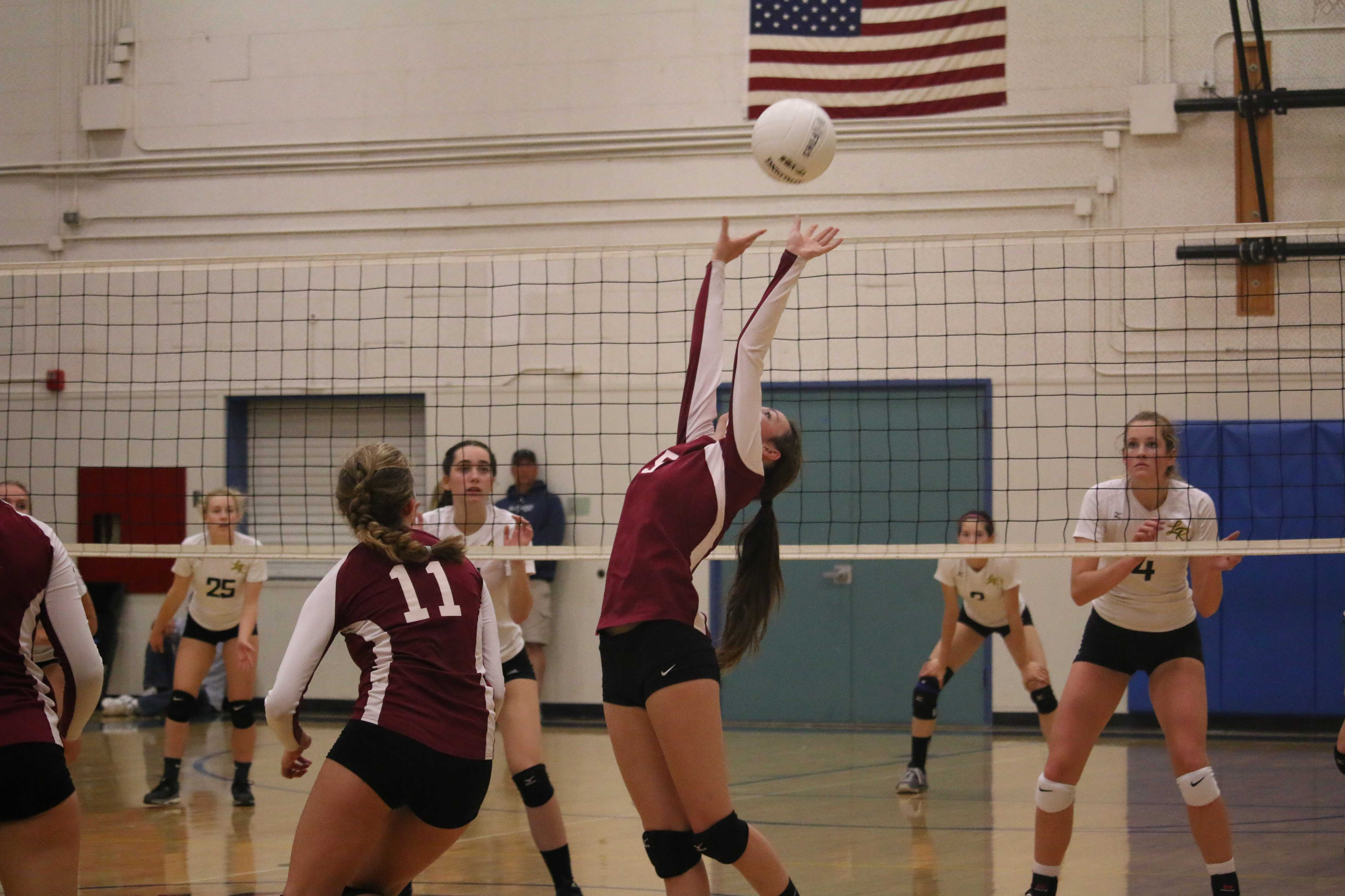girls� volleyball falters in first home game of season
