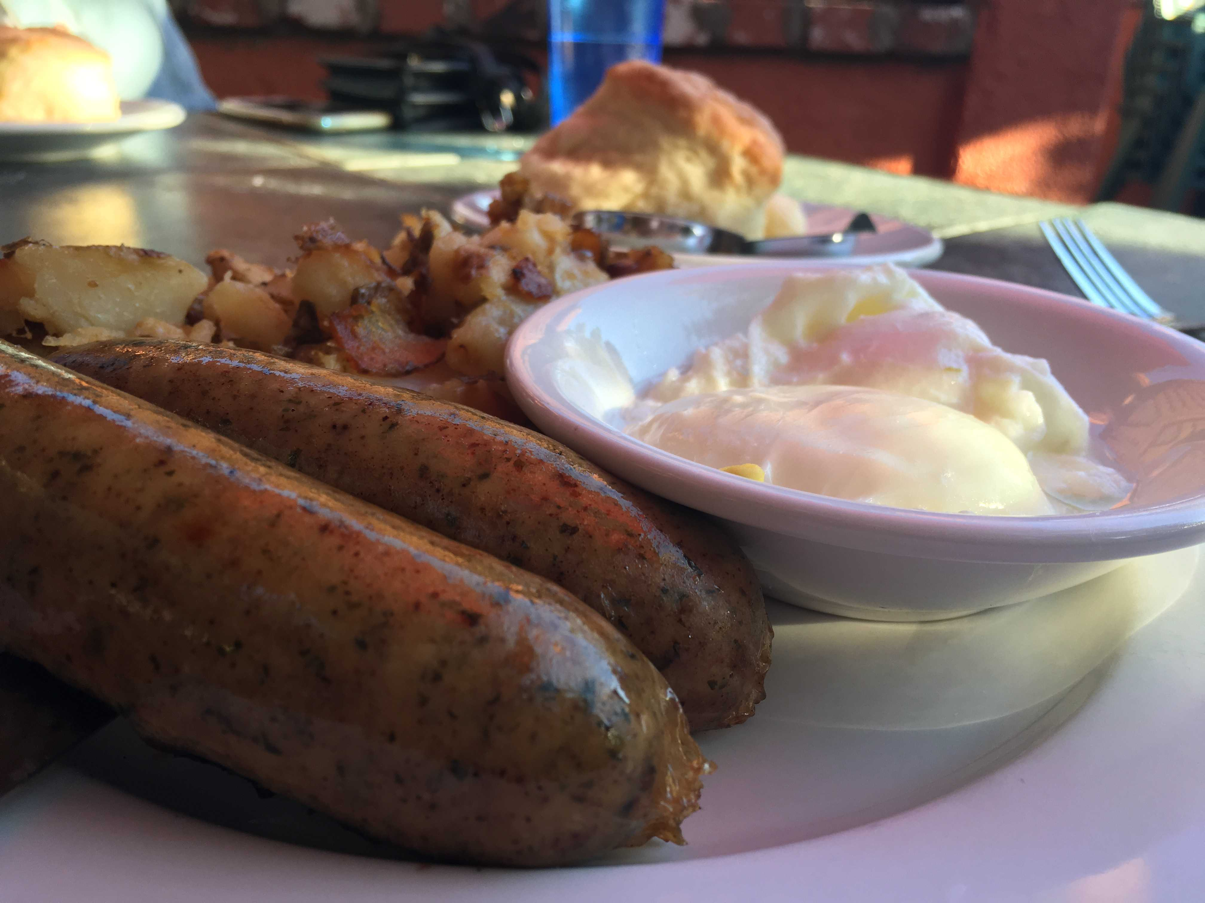 Cafe Noveau's Chicken Apple Sausage. Credit: Julia Fickenscher / The Foothill Dragon Press.