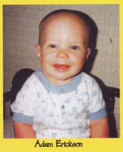 Adam Erickson's baby photo in the yeabook.