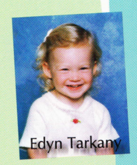 Edyn baby photo in the yearbook.