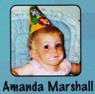 Amanda Marshall's baby picture in the yearbook.