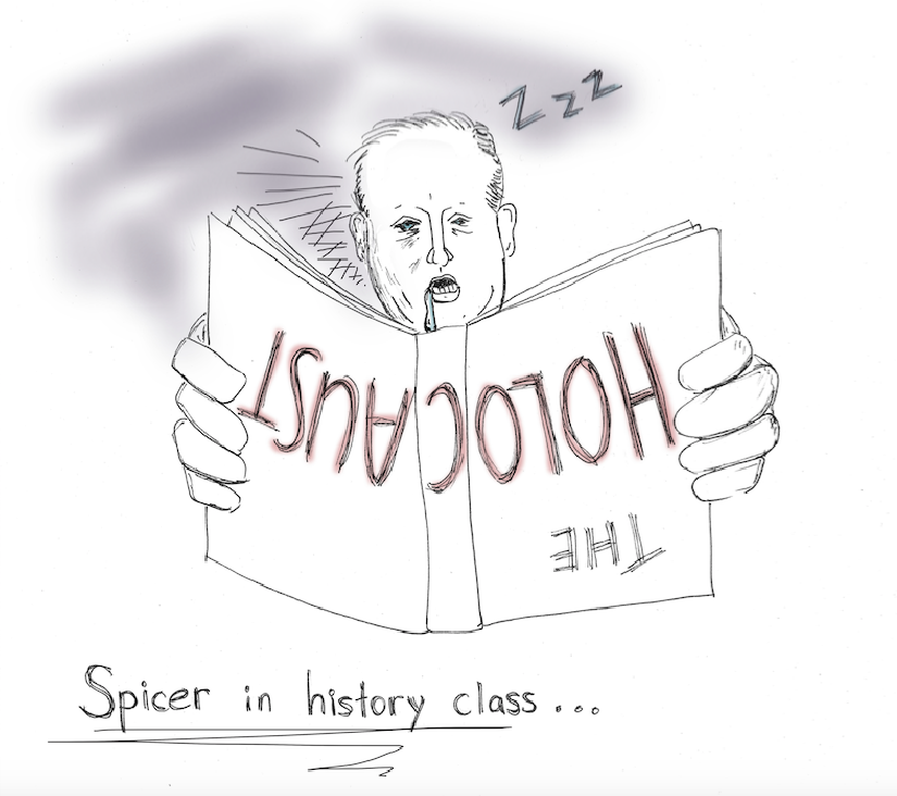 Cartoonist Rachel Chang believes that White House Press Secretary Sean Spicer's recently made comparison about Hitler shows how insensitive and ignorant our representative is about the atrocities of the Holocaust.