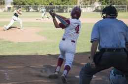 Dylan Tamburri '17 at bat. Credit: Grace Carey / The Foothill Dragon Press
