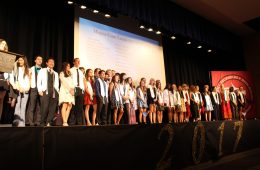 The seniors awarded Magna Cum Laude. Credit: Jocelyn Brossia / The Foothill Dragon Press