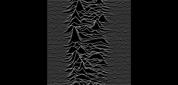 Peter Saville's cover for Joy Division's 1979 debut record 'Unknown Pleasures' Credit: Factory Records
