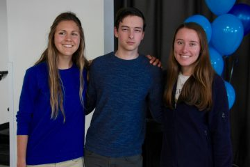 Valedictorians Emily Kinnaman, Isaac Goldstein and Grace Carey(left to right). Credit: Abigail Massar / The Foothill Dragon Press