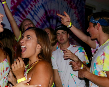 Foothill seniors belting out songs. Credit: Olivia Sanford / The Foothill Dragon Press