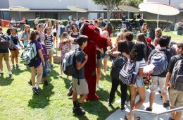 The Dragon participates in the Start Strong Rally. Credit: Abigail Massar / The Foothill Dragon Press