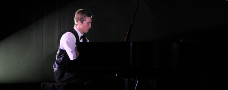 "Frederick performs Rachmaninoff ""Prelude in G Minor"" at the Ventura Unified Festival of Talent 2016. Credit: Carrie Coonan / The Foothill Dragon Press"