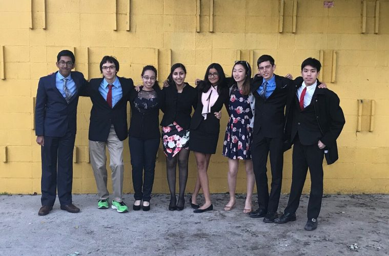 Some debaters at the recent competition. Credit: Darren Wu used with permission