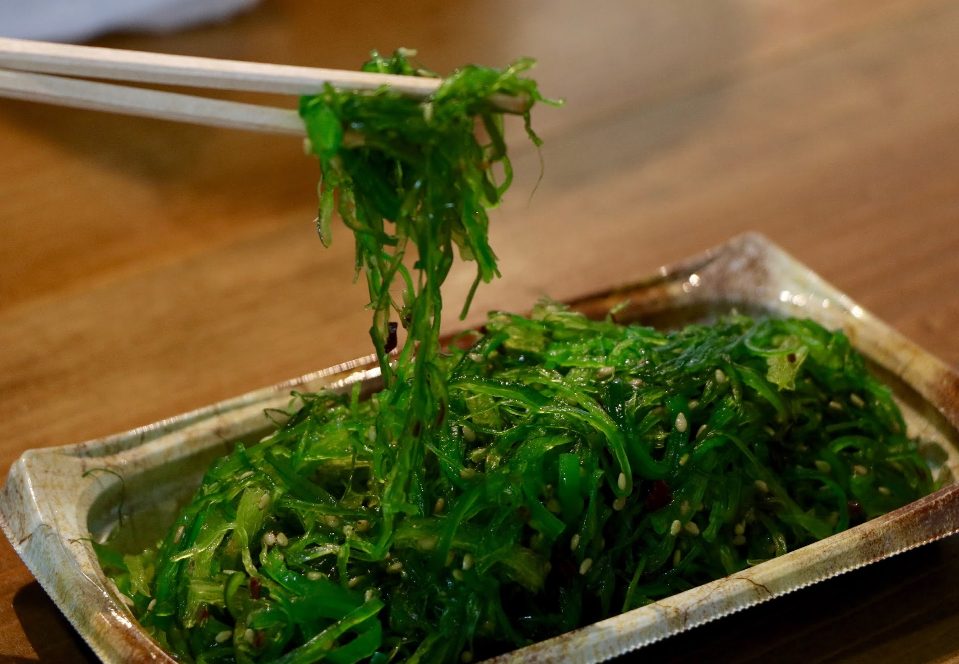 Goma Wakame exhibits a crucial tenet of the Japanese cuisine: seaweed. Credit: Abigail Massar / The Foothill Dragon Press