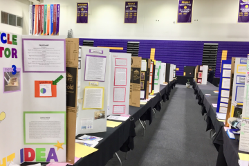 Over 300 tri-fold posters stood in Cal Lutheran. Credit: Rachel Chang / The Foothill Dragon Press
