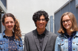 Group Beacon with Tristan Arana '21, Brooke Secreto '21 and Siena Hager '21 get ready to present their Dragon Quest. Credit: Amanda Perez / The Foothill Dragon Press