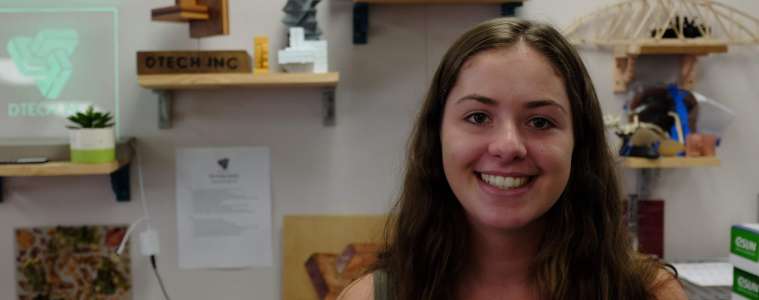 Annika Fedde '19 returns to Foothill after a long summer of sailing. Credit: Ethan Crouch / The Foothill Dragon Press