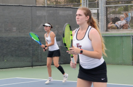 Alyssa McLain '20 is focused and ready for the play. Credit: Muriel Rowley / The Foothill Dragon Press