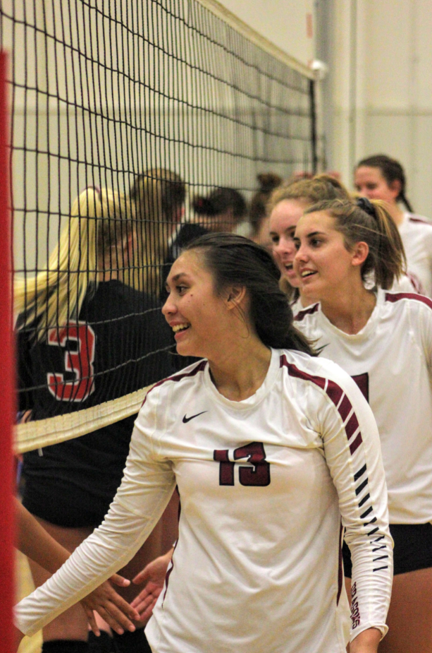 The girls thank Grace Brethren after their win. Credit: Ethan Crouch / The Foothill Dragon Press