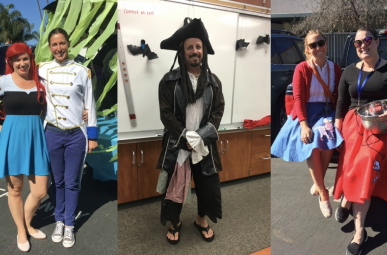 Foothill faculty dresses up for Halloween. Credit: Emma Yakel / The Foothill Dragon Press