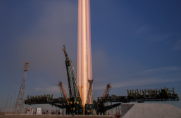 Long exposure of Soyuz MS-10 launch. Credit: Bill Ingalls / NASA