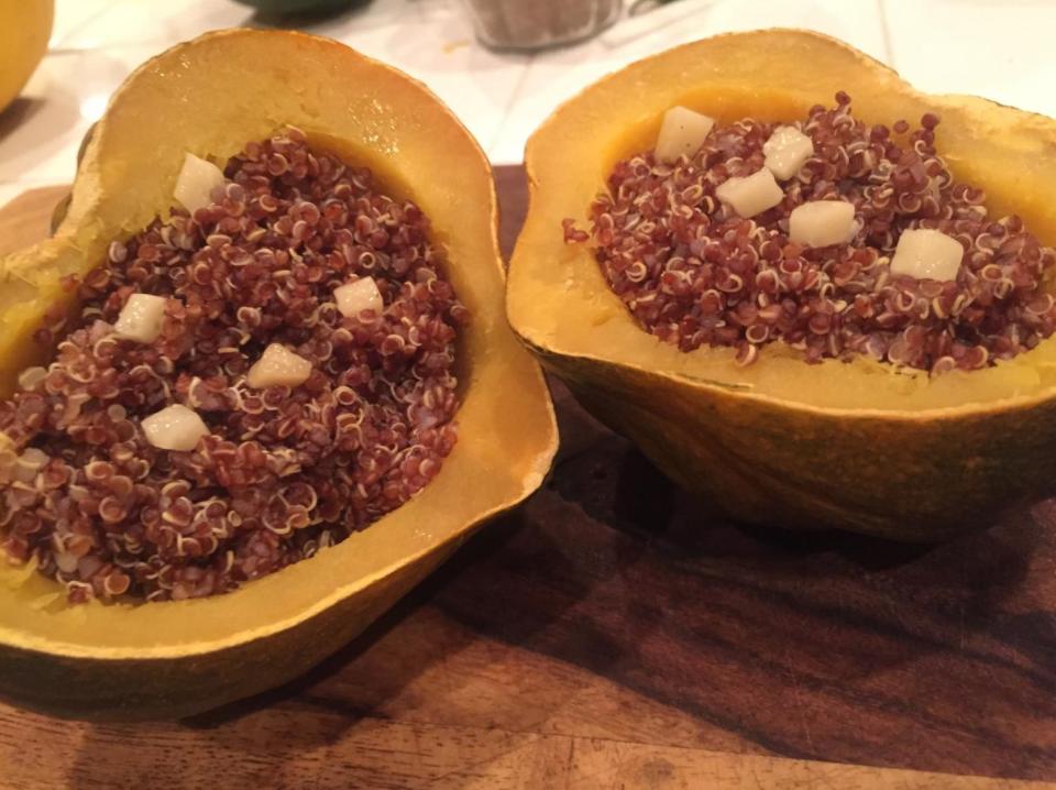 Fun and delicious quinoa bowls. Credit: Sophia Parker / The Foothill Dragon Press