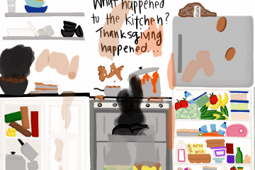 Cartoonist Jordyn Savard feels that preparations for a Thanksgiving meal creates amazing food, but often times leads to an amazingly messy kitchen.