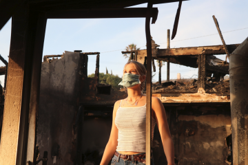 Though her house may have burned down, Olivia Jacobson '20 of Ventura High looks into the future with an open mind. Credit: Olivia Sanford / The Foothill Dragon Press