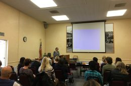 The community gathers at E.P. Foster Library to practice restorative justice by communicating and voicing opinion. Credit: Noelle Hayward / The Foothill Dragon Press