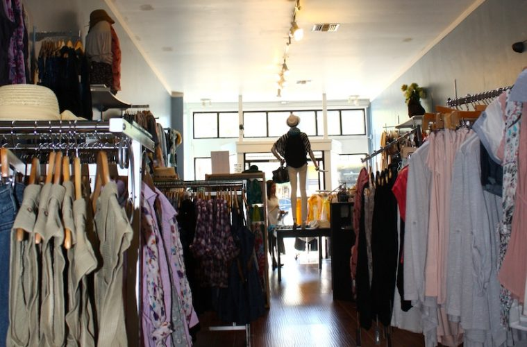One of the newer shops in downtown Ventura, Heavenly Couture offers fashionable clothes for a cheap price. Credit: Celeste Lopez/The Foothill Dragon Press.