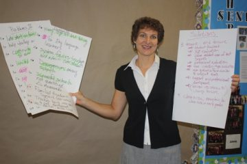 Foothill teacher Cherie Eulau hosted a meeting for students and parents in Ventura to discuss school issues. Maya Morales/The Foothill Dragon Press.